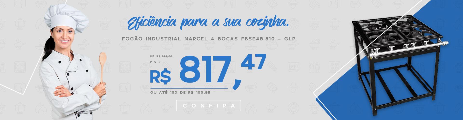 Fogão Narcel FBSE4B.810